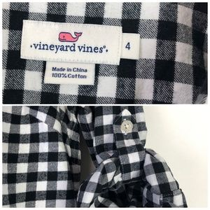Vineyard Vines Tops - Vineyard Vines Gingham Flannel Popover Black White